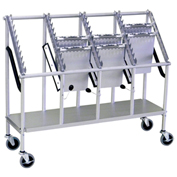 Omnimed® Wheeled Chart Carrier, 40-Unit Capacity