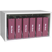 "Omnimed® Cubbie File Storage, 6 Binder Capacity, 27-5/8""W x 14-1/2""D x 15-5/8""H, Light Gray"