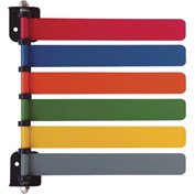 "Omnimed® 6-Flag Room ID System, 8""W Aluminum Flags, Assorted Colors"