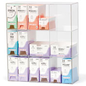 "Omnimed® Triple Suture Rack, Acrylic, 9 Bins, 15-3/4""W x 5-1/2""D x 18-1/4""H"