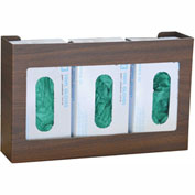 Omnimed® Woodgrain Omni Triple Glove Box Holder, 1/Pack