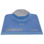 16 Grit Colbalt Train Diamond Segmants for Onfloor Quick Tool, 3 Pack - 297216