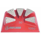 30 Grit XT5 Diamond Segmants for Onfloor Quick Tool, 3 Pack - 298964