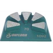 70 Grit XT5 Diamond Segmants for Onfloor Quick Tool, 3 Pack - 298972