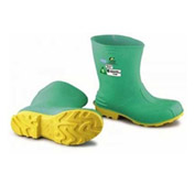 """Onguard Men's Boot, 11"""" Hazmax EZ-Fit Green/Yellow, Steel Toe/Mid-sole, PVC, Size Extra Large"""