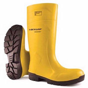 Dunlop®Food Pro Purofort® Yellow Steel Toe Boot, Polyurethane, Size 10