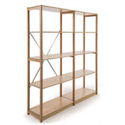"Excalibur Finished Display Shelving, AB7182496, 24""W X 18""D X 96""H, All Wood, 7-Shelf-Add On"