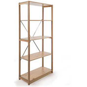 "Excalibur Finished Display Shelving, SB7124896, 48""W X 12""D X 96""H, All Wood, 7-Shelf-Starter"