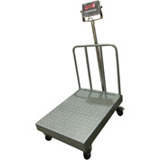 "Optima 915 Series NTEP Bench Digital Scale w/ LED & Backrail 1,000lb x 0.2lb 32"" x 24"" Platform"