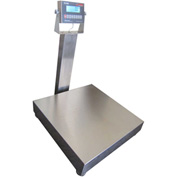 "Optima 915 Series NTEP Stainless Steel Bench Digital Scale w/ LCD Display 500lb x 0.1lb 24"" x 24"""