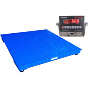 "Optima Heavy Duty Digital Pallet/Floor Scale 72"" x 72"" 20,000lb x 5lb"