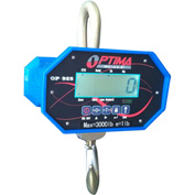 Optima Heavy-Duty LCD Digital Crane Scale With Remote 40,000lb x 20lb