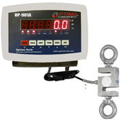 Optima LED Digital Hanging Scale 3,000lb x 0.5lb