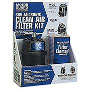 "Compressed Air Filter Kit - 2 Elements/Mounting Hardware - 1/4"" (NPT) - Sub-Micronic"
