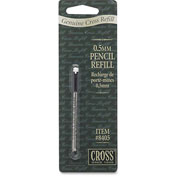 Cross® Pencil Lead and Eraser Refills, 12 Leads and 1 Erase, 0.5mm, Black