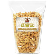 Office Snax Cashew Nuts, Roasted & Salted, 32 Oz