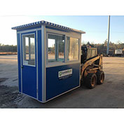 Guardian Booth; 4'x6' Guard Booth - Blue - Economy Model, Pre-Assembled