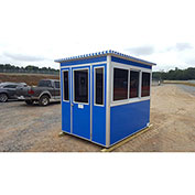 Guardian Booth; 6'x6' Guard Booth, Blue - Economy Model, Pre-Assembled