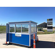 Guardian Booth; 6'x8' Guard Booth, Blue - Economy Model, Pre-Assembled