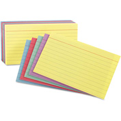 "Oxford® Rule Index Cards 40280, 3"" x 5"", Assorted, 100/Pack"