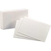 "Oxford® Rule Index Cards 41, 4"" x 6"", White, 100/Pack"