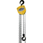 OZ Lifting Manual Chain Hoist With Std. Overload Protection 1 Ton Cap. 10' Lift