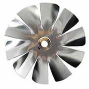 "2"" Small Aluminum Fan Blade 3/16"" Bore 10 Blade - Min Qty 9"