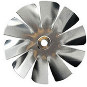 "Packard 10 Blade Small Aluminum Blade - 3/16"" Bore 2 1/2"" Diameter"
