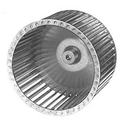 "9 31/32"" Galvanized Steel Blower Wheel - 1/2"" Bore CCW"