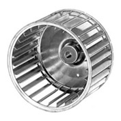 "Fasco Galvanized Steel Blower Wheel - 4-1/4"" Diameter 1/4"" Bore"