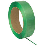 "Polyester Strapping 3/4"" x .050"" x 2,400' Green 16"" x 6"" Core"