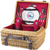 Champion Picnic Basket - Red (Philadelphia 76ers) Digital Print