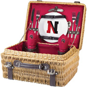 Champion Picnic Basket - Red (Northeastern University Huskies) Digital Print