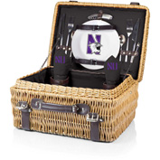 Champion Picnic Basket - Black (Northwestern University Wildcats) Digital Print