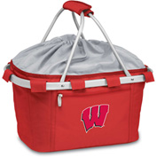 Metro Basket - Red (U Of Wisconsin Badgers) Embroidered