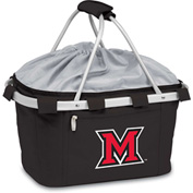 Metro Basket - Black (Miami U Red Hawks) Embroidered