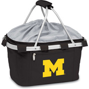 Metro Basket - Black (U Of Michigan Wolverines) Digital Print