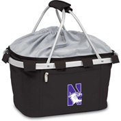 Metro Basket - Black (Northwestern U Wildcats) Embroidered