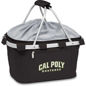 Metro Basket - Black (Cal Poly Mustangs) Embroidered