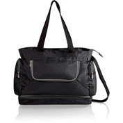 Picnic Time Beach Cooler Tote with Insulated Pockets Black with Gray Trim