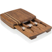 Picnic Time Cordova Bamboo Cheese Board w/ 3 Utensils Natural Wood