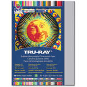 "Pacon® Tru-Ray Construction Paper 9"" x 12"" Gray"