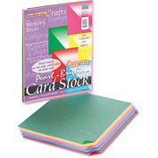 """Pacon® Reminiscence Card Stock 109131, 8-1/2"""" x 11"""", Assorted Bright, 50/Pack"""