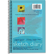 "Pacon® Art1st Sketch Diary 4790, 9"" x 6"", White, 70 Sheets/Pad"