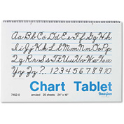 "Pacon® Chart Tablets 74520, 12"" x 24"", White, 1 Each"