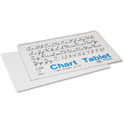 "Pacon® Chart Tablets w/Cursive Cvr 74620, 16"" x 24"", White, 25 Sheets"