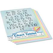 """Pacon® Colored Chart Tablet 74733, 24"""" x 32"""", Assorted, 1 Each"""