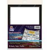 "Pacon® Self Adhesive Project Paper, 8-1/2""W x 11""H, Black, 8/Pack"