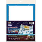 "Pacon® Self Adhesive Project Paper, 8-1/2""W x 11""H, Blue, 8/Pack"