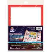 "Pacon® Self Adhesive Project Paper, 8-1/2""W x 11""H, Red, 8/Pack"